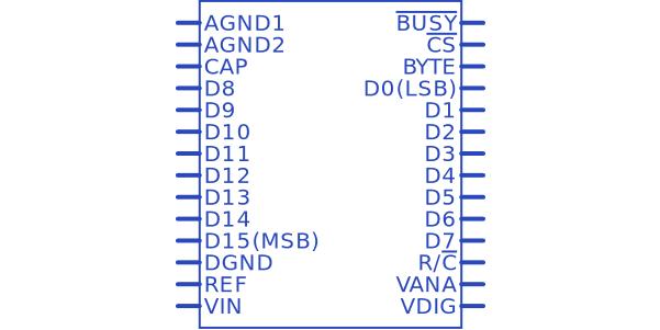 ADS7805U 16 Bit Analog to Digital Converter 1 Input 1 SAR 28-SOIC